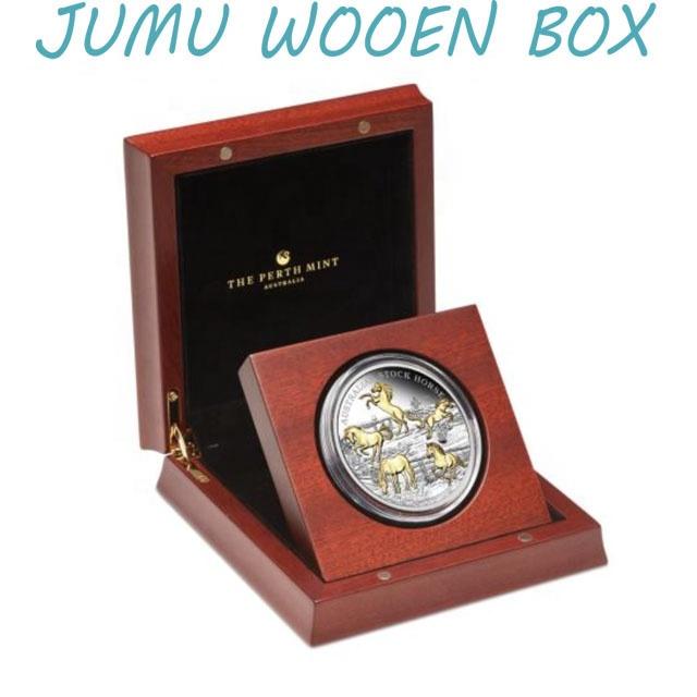 Индивидуальный дизайн оптовая продажа фабрики деревянная монетная Подарочная коробка из красного дерева