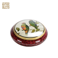 New design porcelain hand printed craft antique storage box, ceramic decorative gift box