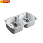 T502A commercial new design stainless steel double bowl small kitchen sink