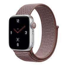 Ремешок для часов Apple Watch 5 4 40 мм 44 мм 3/2 38 мм 42 мм, нейлоновый мягкий дышащий спортивный ремешок для часов серии iwatch, аксессуары(Китай)