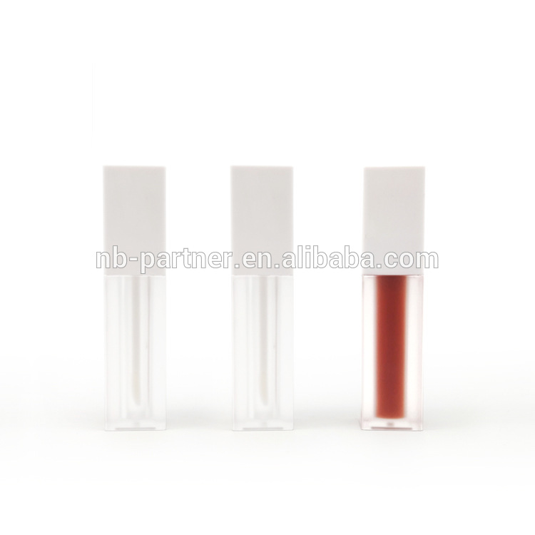 Hot sale custom logo 5ml empty black clear eye liner tube container with brush/mascara tube with red cap/eyelash growth tubes