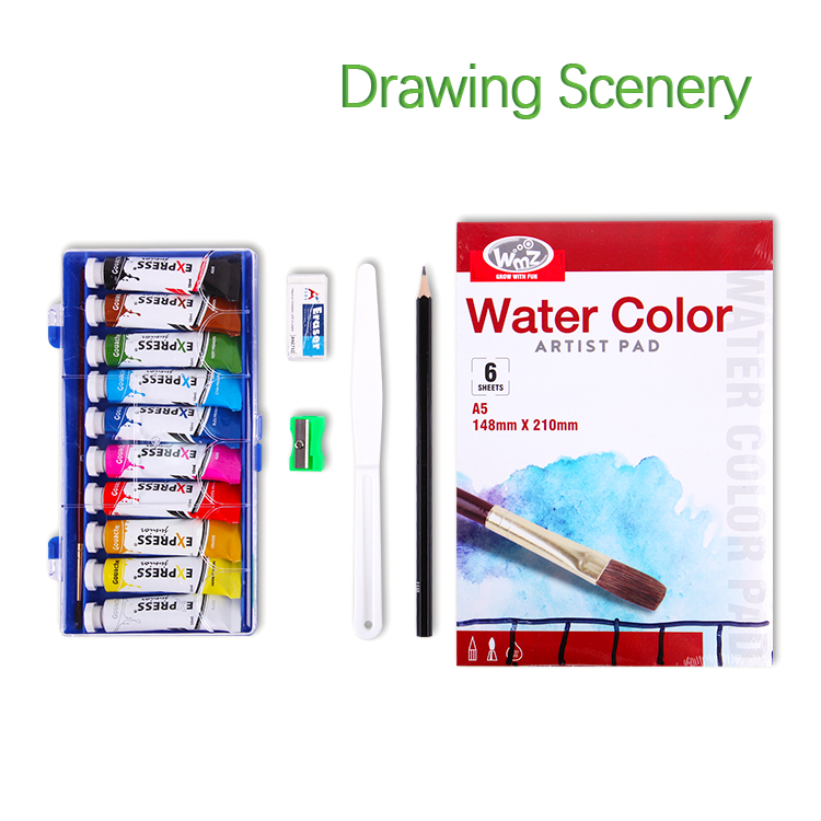 BLOT RST80092 Nylon Case Water Color Artist Pad Paint Drawing Set