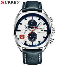 Новые мужские часы CURREN брендовые деловые повседневные спортивные часы с большим циферблатом водонепроницаемые военные часы мужские кожан...(Китай)