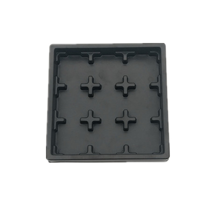 Blister black color plastic chocolate insert tray