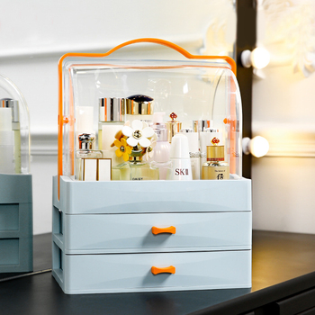Plastic Makeup Storage Box Cosmetic Vanity Makeup Box