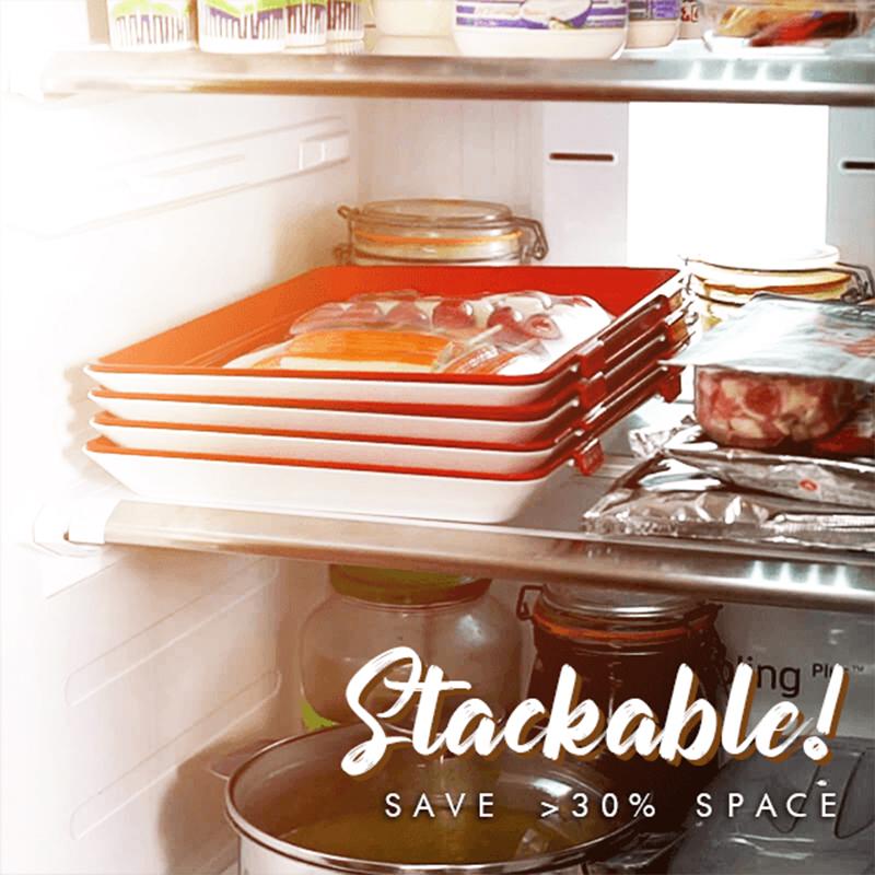 1pcs Dropship Household Kitchen Food Vegetable Fruit Preservation Fresh Storage Conservation Tool Trays