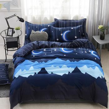 polyester quilt cover duvet cover double bed 4 piece bedding set