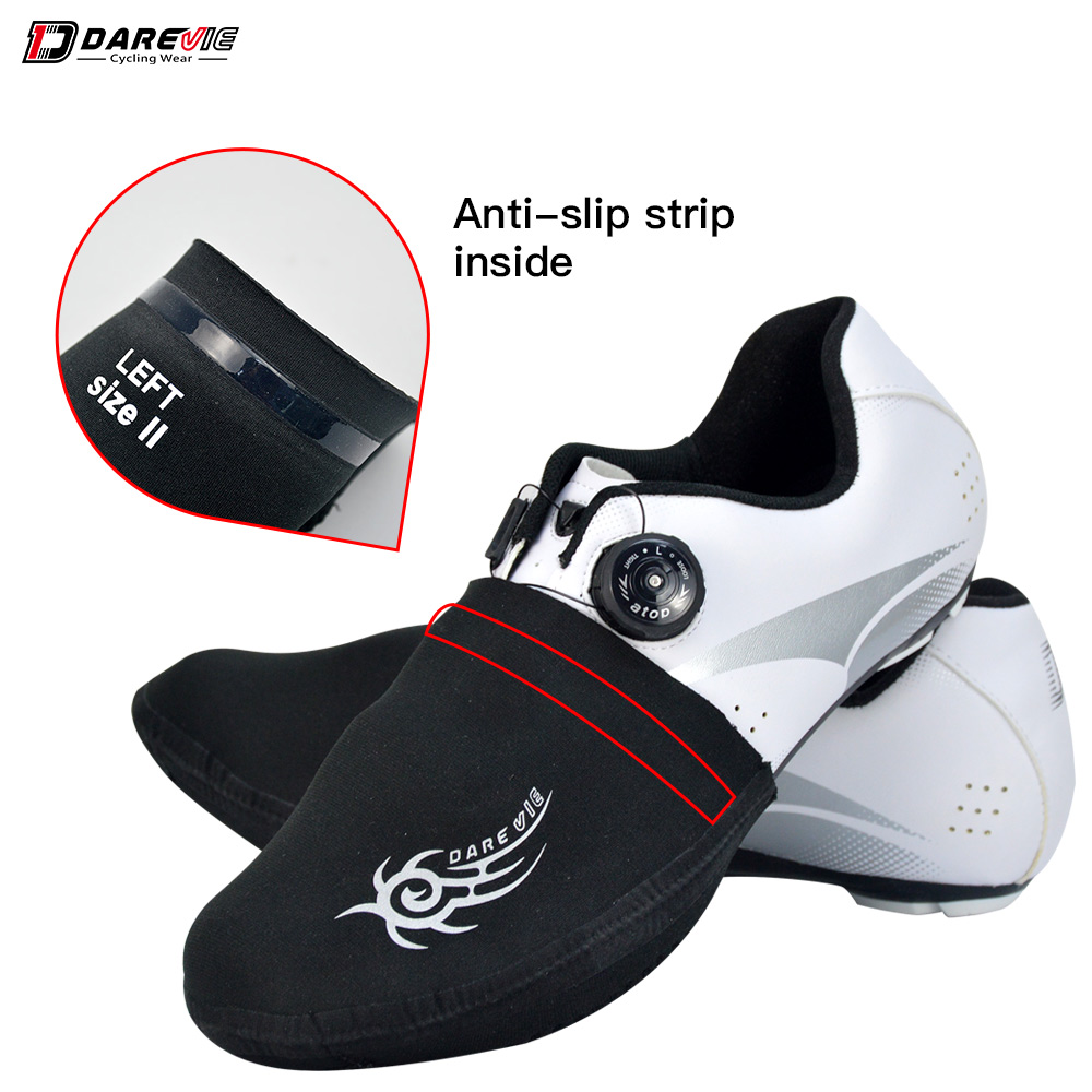 Darevie professional cycling shoes toe cover Windproof/dustproof  custom