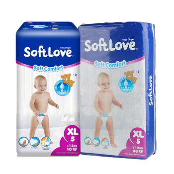 Softlove Soft Dry High Quality Colored Disposable Baby Diaper Wholesalers
