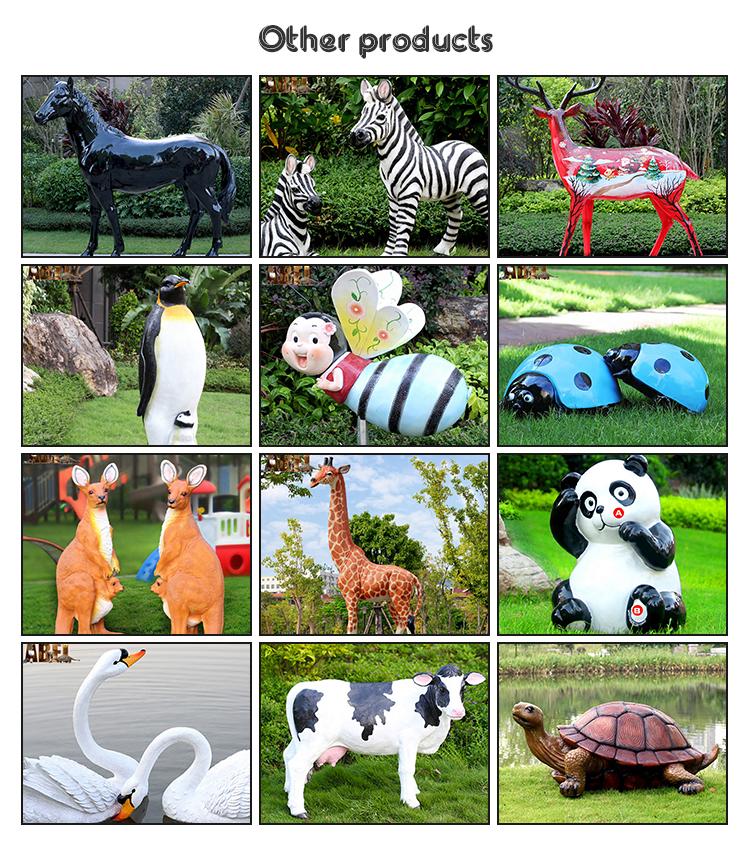 Customized realistic life size horse statue fiberglass horse