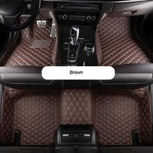 Автомобильные коврики для BMW X3 G01 2018-2019 на заказ, автомобильные аксессуары из искусственной кожи, водонепроницаемые коврики, нескользящий Ав...(Китай)