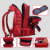 Giftmar best selling red  backpack with many pockets camouflage climbing field duffel travel+bags