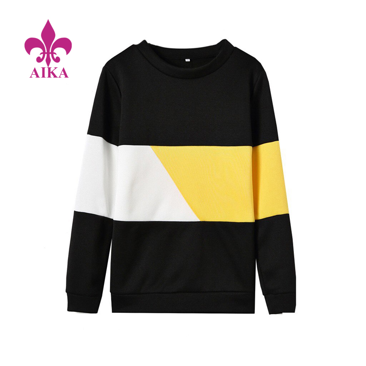 Popular New Hotsale Womens Hoodies Hot Sweatshirts Color Blocks Elegant Casual Tops High Quality Tracksuit