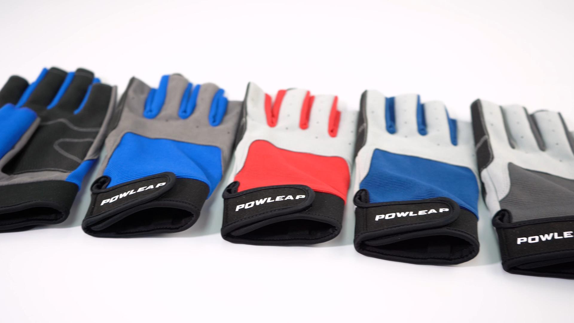 Nuovo stile personalizzato breve dito kayak vela acqua sport guanti per le donne degli uomini