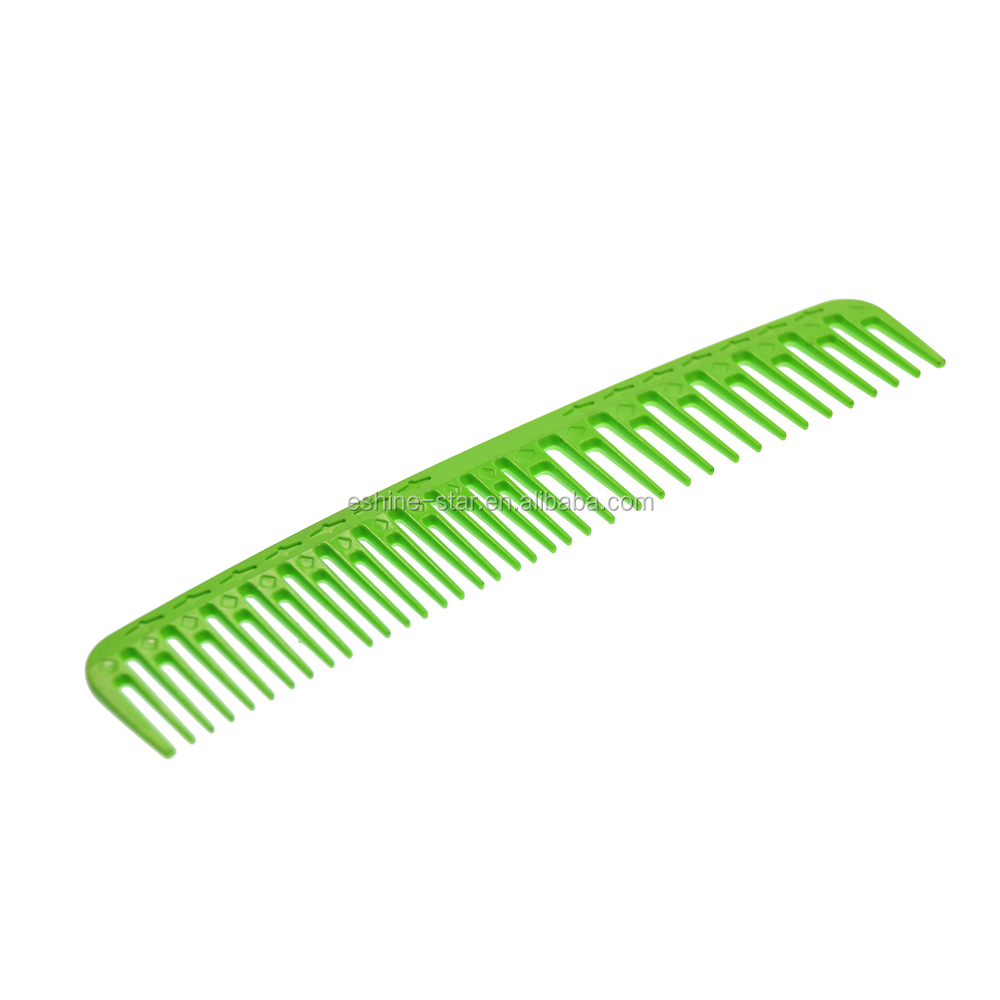 Private logo hair beauty salon carbon plastic hair cutting comb for sale in low price