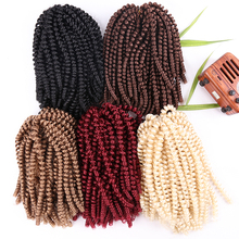 Hot Selling Outre Synthetisch Afro <span class=keywords><strong>Kinky</strong></span> Nubische Haak Extention Uitdrukking Rood 613 T30 Dropshipping Bom Lente Twist Haar