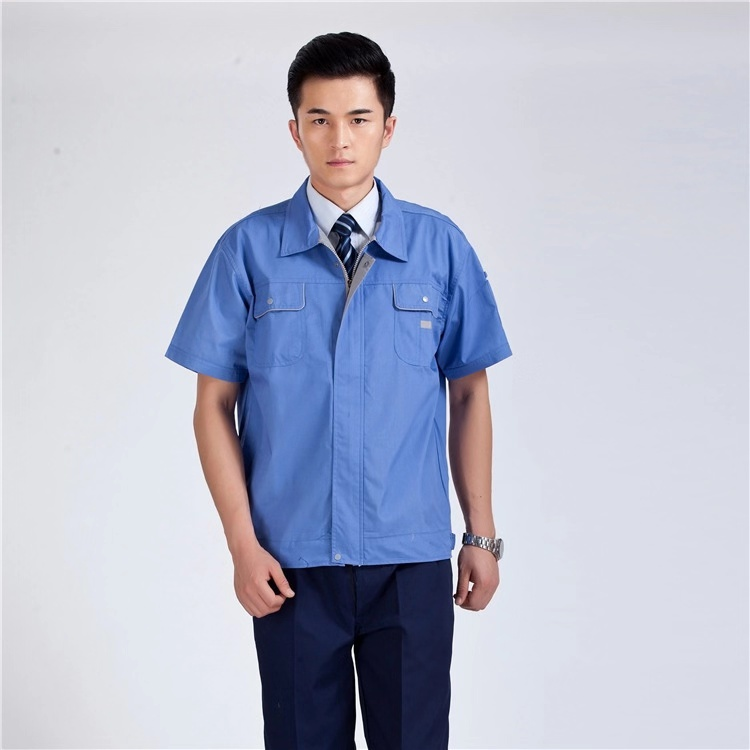 Summer wear suits for men and women solid color breathable custom uniform set