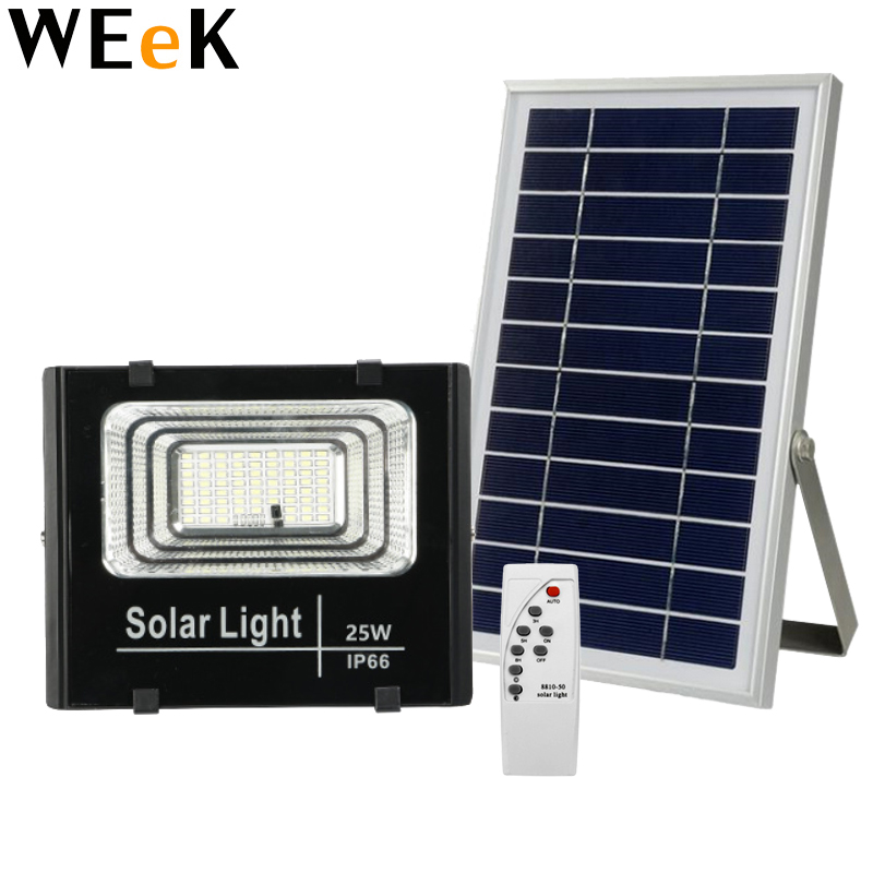 LED IP65 Solar Flood Light with Solar Panel Light Control Light Spotlight Wall Lamps Outdoor Emergency Lighting