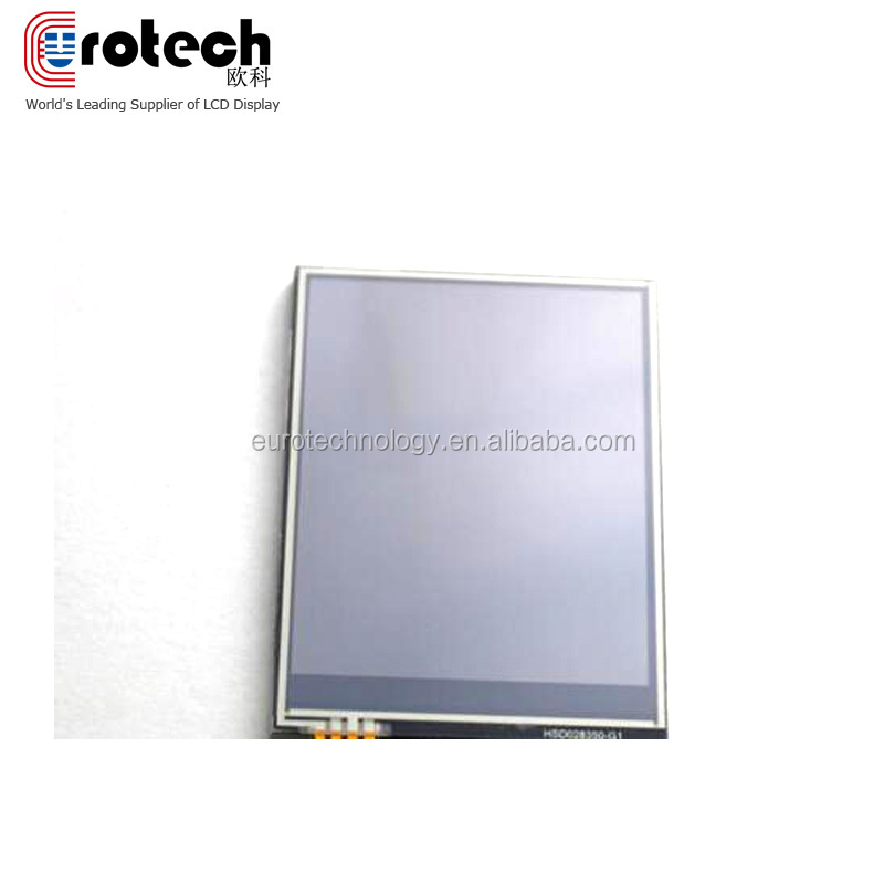 Ortustech brand small size full viewing angle display 240*320 industrial screen 2.7inch panel with touchscreen resistive touch