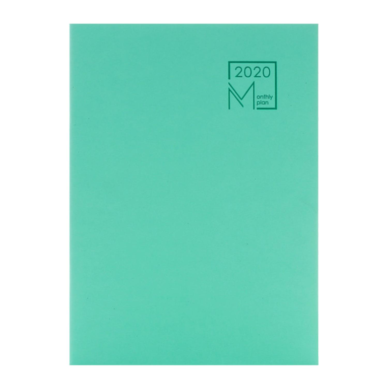 B5 2020 календарь, ежемесячный планировщик, 365 дней, ежедневный календарный план, блокноты с 48 страницами для домашнего офиса, принадлежности д...(Китай)
