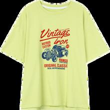 Женская футболка с коротким рукавом SAM'S TREE, Повседневная футболка большого размера с графическим принтом в стиле Харадзюку, базовые корейск...(China)