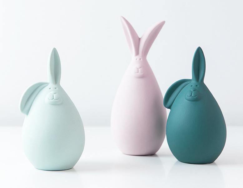 2020 popular pottery Macarons decorations cute figurine porcelain animals/plants ceramic ornaments