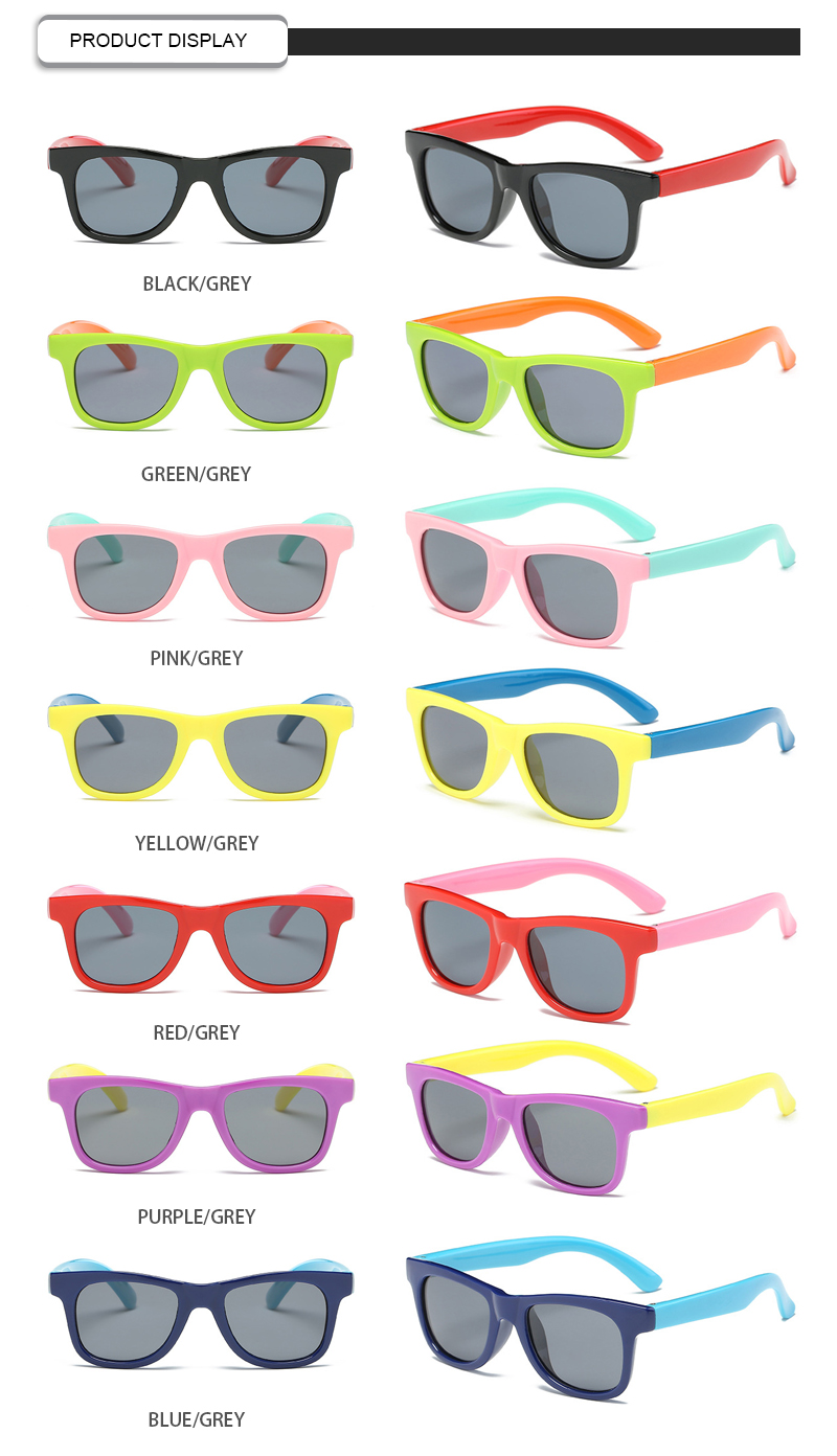 Candy Color Baby Glasses Soft Silica Gel Polarized 1 2 3 Years Old Kids Sunglasses