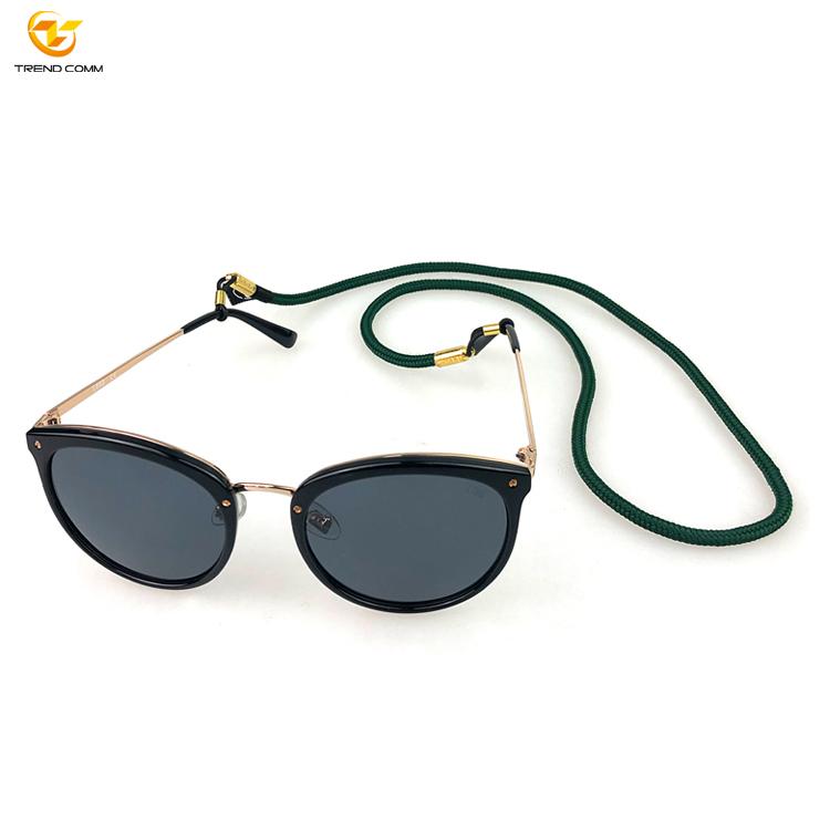 Adjustable fashion custom logo eye glasses strap lanyard, sunglasses retainer lanyard, glasses cord lanyard