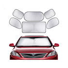 Polyester Silver Coated 6PCS Car Sun Shade Polyester Front Windshield Car Sunshade