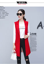 Женский Классический Длинный блейзер, элегантный офисный жилет, повседневный пиджак без рукавов размера плюс, 2020(Китай)