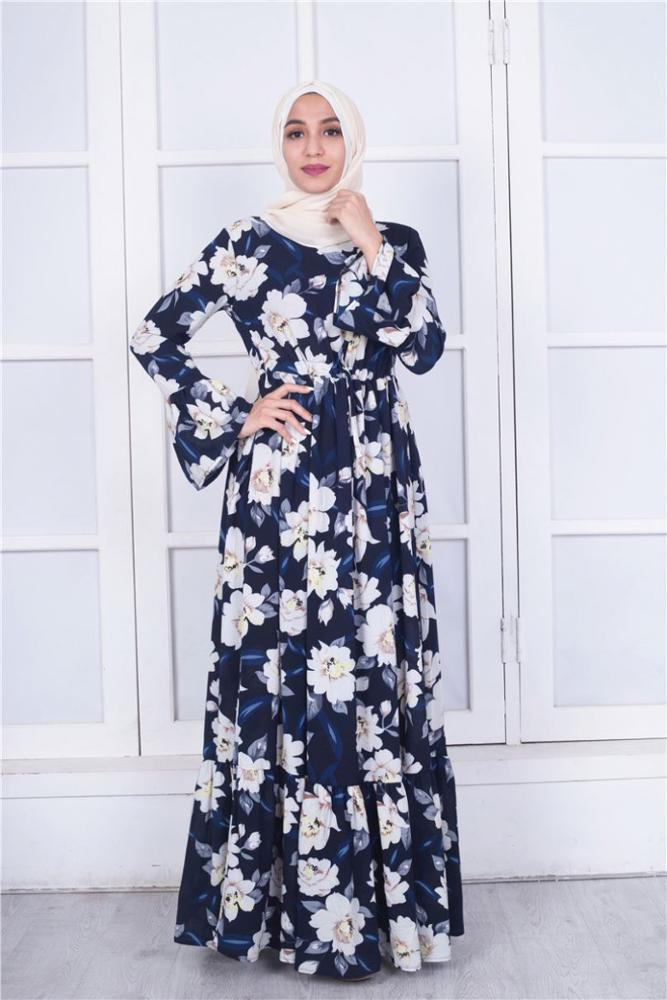 2020 ramazan koleksiyonu 4 renk dantelli kenar tasarım müslüman pamuk jalabiya kadınlar kaftan İslam casual abaya