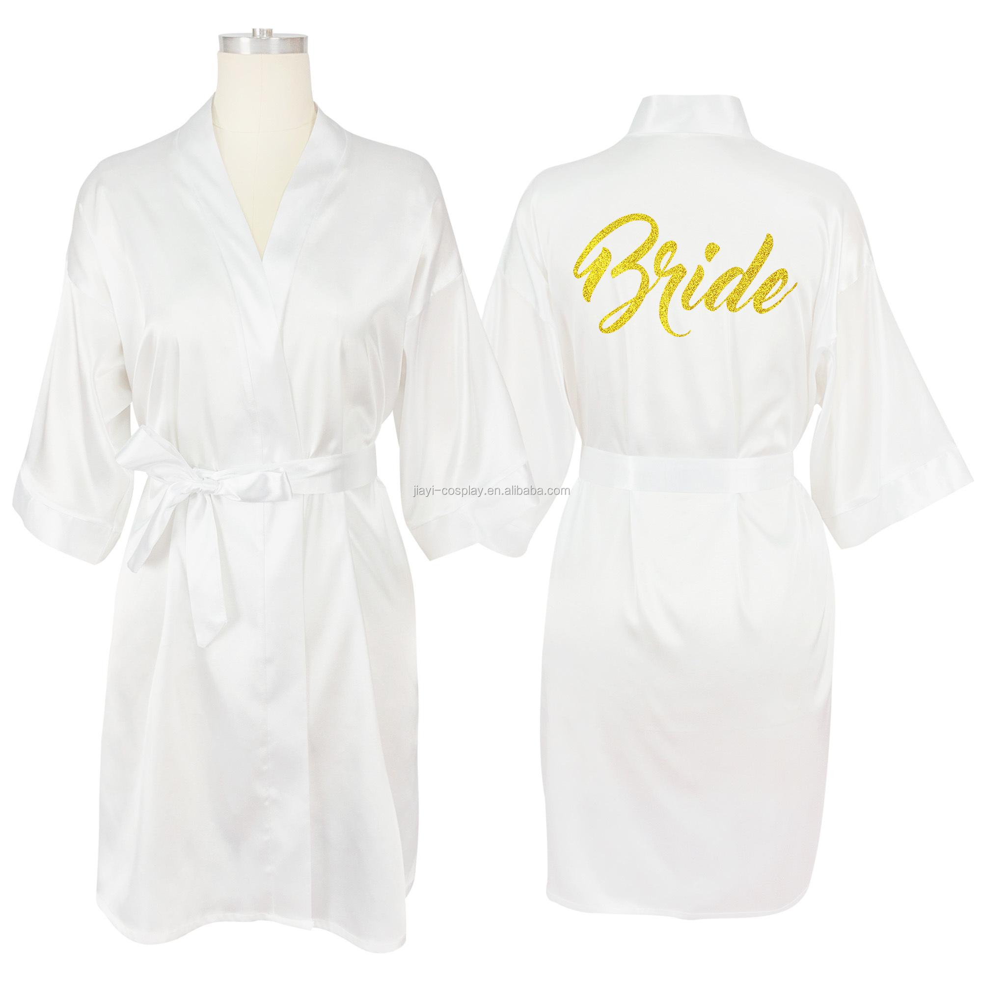Équipe Mariée Kimono Robe robe de demoiselles d/'honneur satin de soie mariage