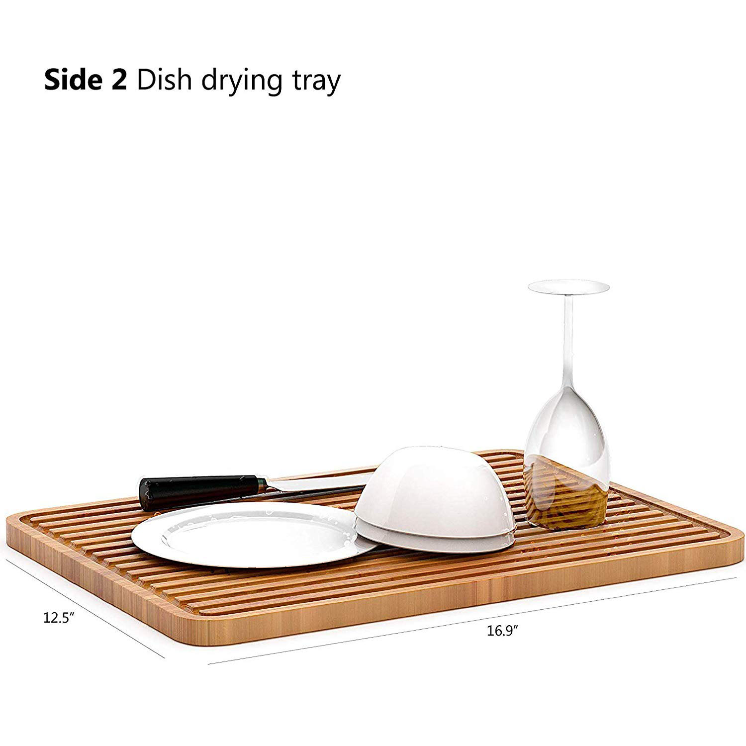 Large Bamboo Cutting Board for Kitchen | Wood Cutting Board | Butcher Block