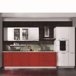 Affordable Mini Kitchenette Fiber Red Kitchen Cabinet Manufacturer Malaysia