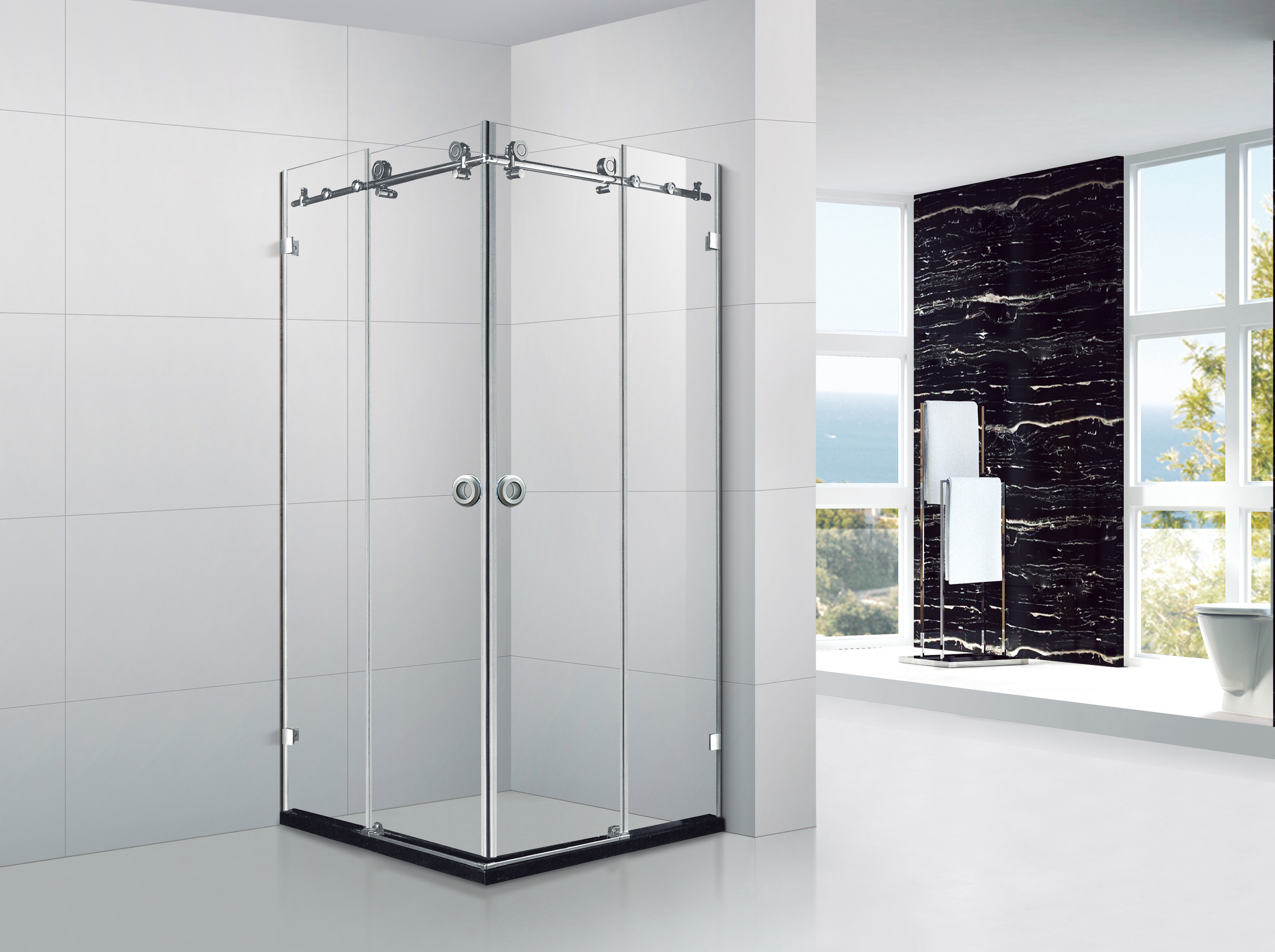 Glass Door Bathroom Corner Bathing Shower Booth Cabinet Buy Shower Bathroom Shower Booth Bathroom Shower Product On Alibaba Com