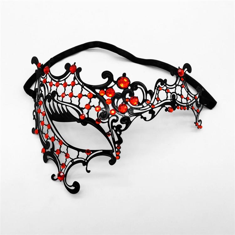Besi Baru Seni Setengah Wajah Tahap Kinerja Masker Pesta Karnaval Pesta Bor Logam Masquerade Masker Dewasa Seks Masker