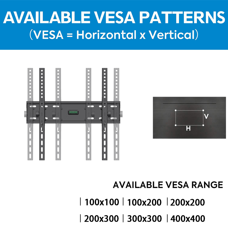 VESA 400*400 Economy 23-56 Inch Fixed Flat Panel TV Wall Mount Holder