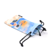 Custom digital printing recycled soft microfiber glasses cleaning pouch bag