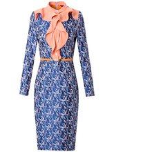 Новинка весны 2020, жаккардовое платье знаменитостей для деловых женщин, винтажные вечерние платья с принтом размера плюс, зимние облегающие ...(Китай)