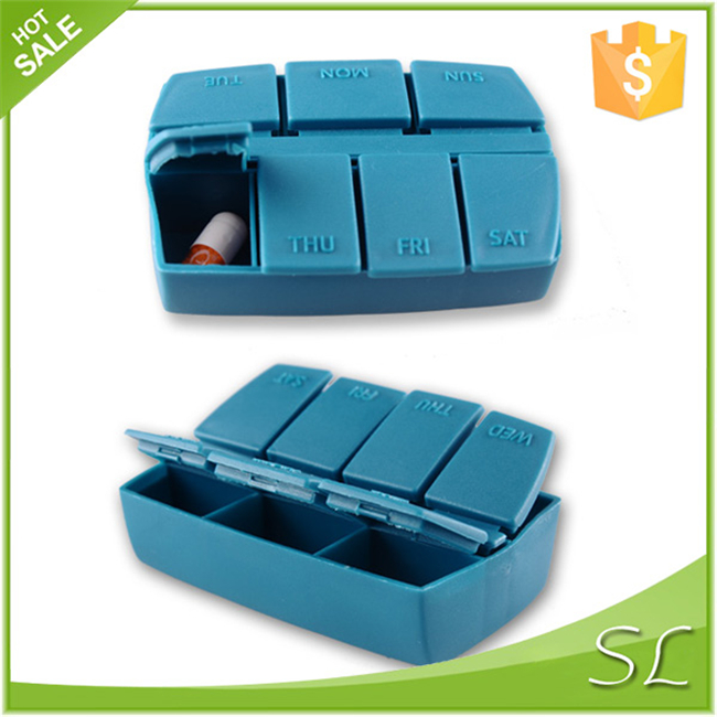 Custom Plastic Storage Medicine case PP 7 Compartments  Days Pills Jewelry Gift  Box