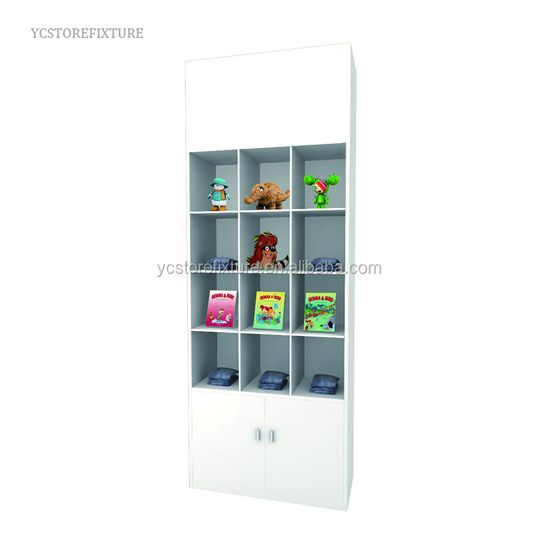 Superior quality floor white wooden kids store display case cabinet