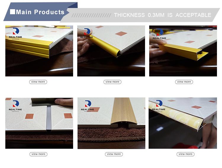 Fabricant Chinois professionnel Coin Décoration Bandes Garniture De Tuile En Aluminium