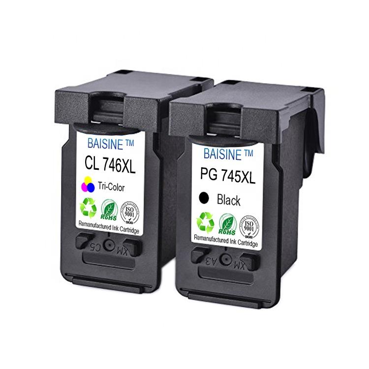 Hot Sale BAISINE Compatible for Canon PG-745 CL-746 High Yield Color Non-original Ink Cartridge PG-745XL Ink Cartridge CL-746XL
