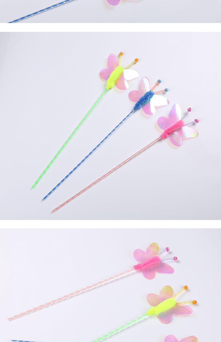 flowers cat teaser wand for cat activated playing products cat toys