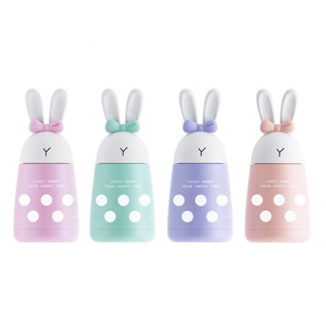 Magic rabbit double layer stainless steel thermos cup Girl cute mini water mug