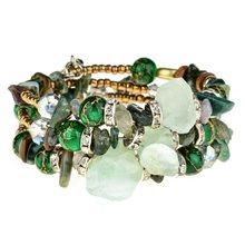 Женские многослойные браслеты LUBINGSHINE, бусины в стиле бохо, амулет, браслет в винтажном стиле, регулируемые браслеты из смолы и камня, этничес...(Китай)