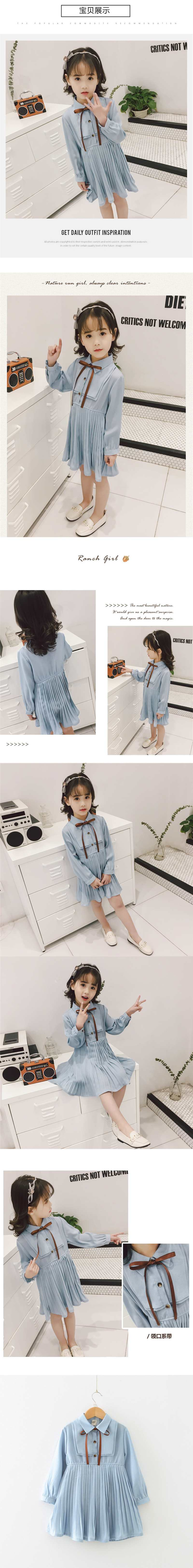 Humor Bear Baby Girls Dress 2020 School Student Brand New Spring & Autumn Bow Long Sleeve Dress Kids Clothing Princess Dresses