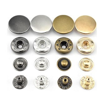 Price custom metal high quality 4pcs Smooth simple general version press snap button for coat