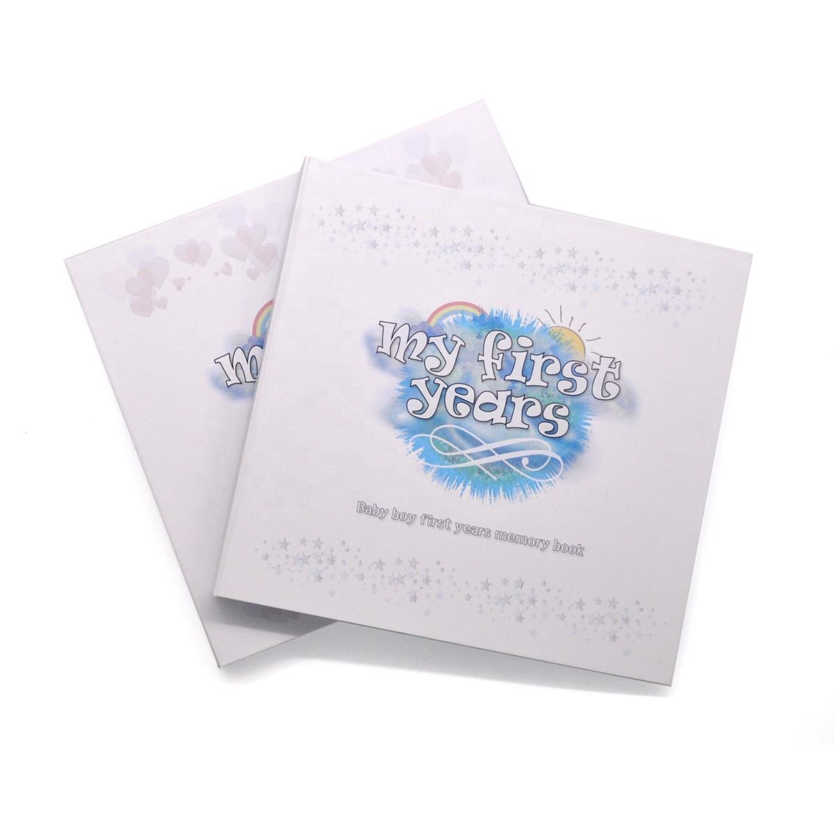 Adorável Capa Dura escondido espiral anel de arame memória bebê livros Álbum de Fotos Estilo Logotipo Personalizado OEM