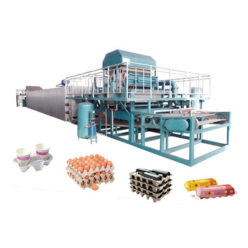 Hot sale full automatic large capacity egg carton tray making machine